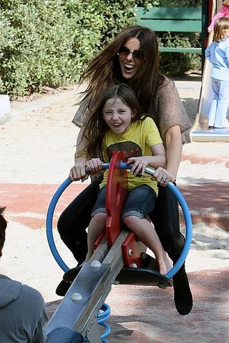 Kate Beckinsale and Daughter Lily at the Park
